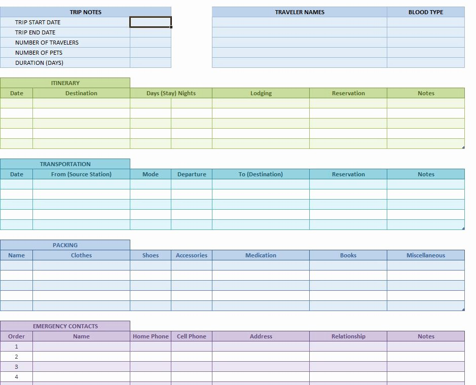 Travel Itinerary Planner Template New Travel Itinerary Template