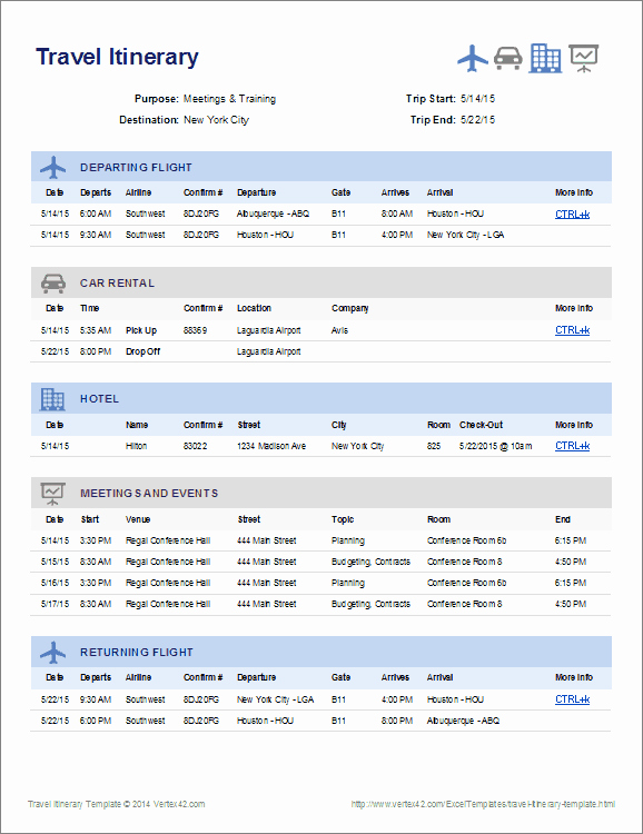Travel Itinerary Template Excel Beautiful Travel Itinerary Template