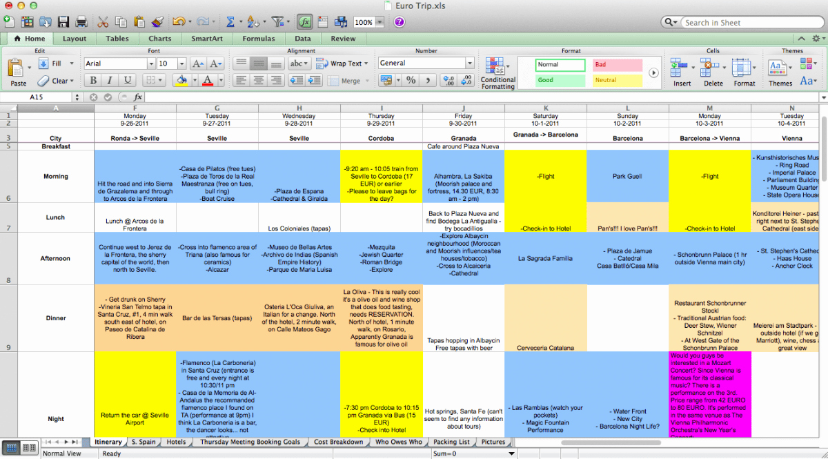 Travel Itinerary Template Excel Best Of Planning Trips is A Pain In the ass