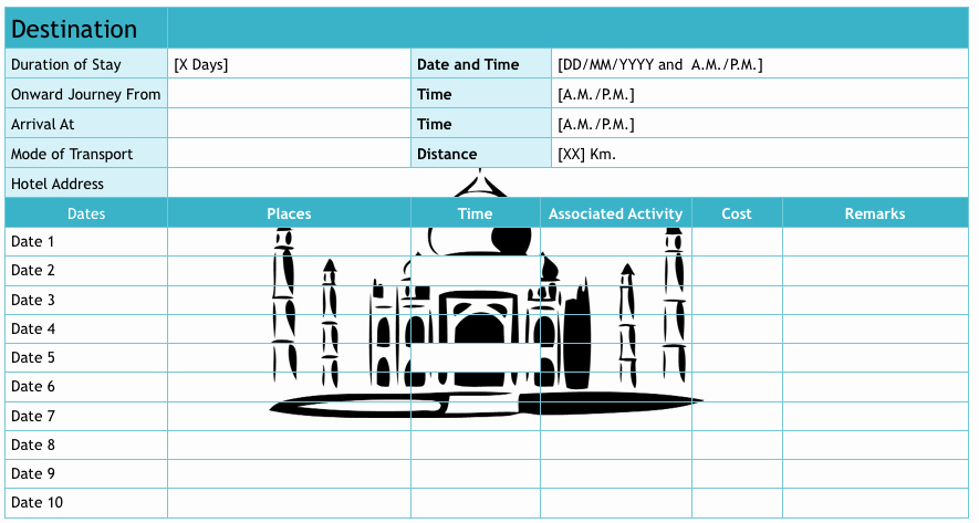 Travel Itinerary Template Excel Inspirational 9 Useful Travel Itinerary Templates that are Free