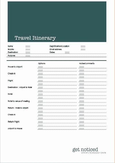 Travel Itinerary Template Google Docs Elegant 83 Executive assistant Travel Itinerary Template Flight