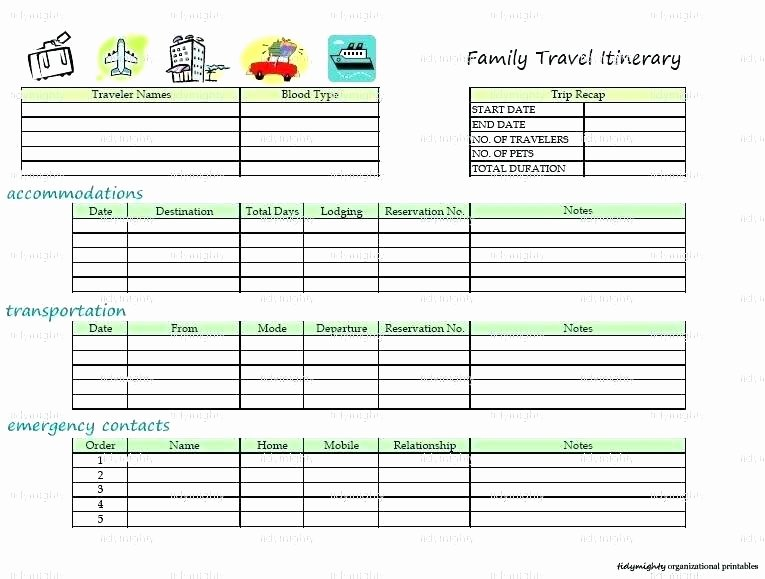 Travel Itinerary Template Google Docs Fresh Trip Planner Templates Military Co Itinerary Template