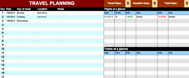 Travel Itinerary Template Google Docs Inspirational Travel Itinerary Template Google Docs