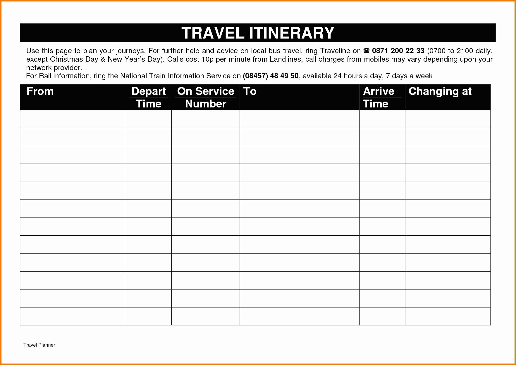 Travel Itinerary Template Google Docs New Itinerary Template Google Docs Five Things Nobody told You