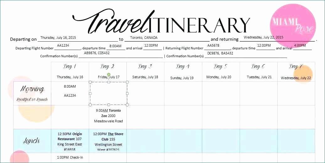 Travel Itinerary Template Google Docs New Travel Itinerary Template Google Docs Magnificent Google