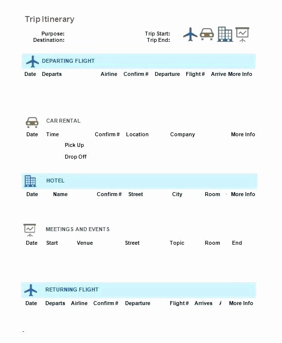 Travel Itinerary Template Google Docs Unique Meeting Itinerary Template 4 Free Word Documents Download