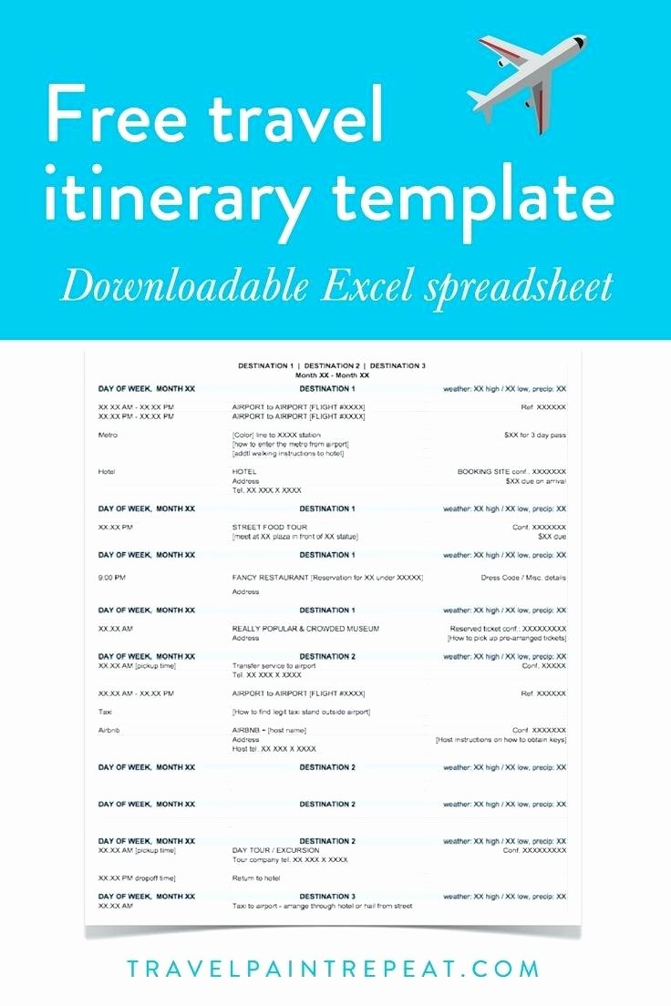 Travel Itinerary Template Word 2010 Best Of Template Template for Travel Itinerary Word