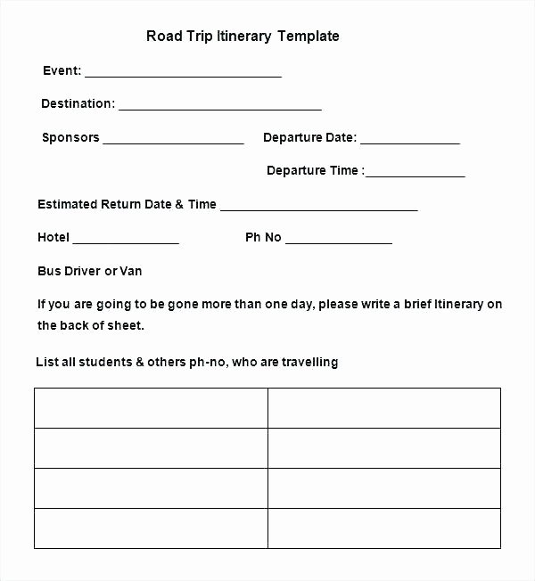 Travel Itinerary Template Word 2010 Inspirational Sample Business Travel Itinerary Template Inside Trip