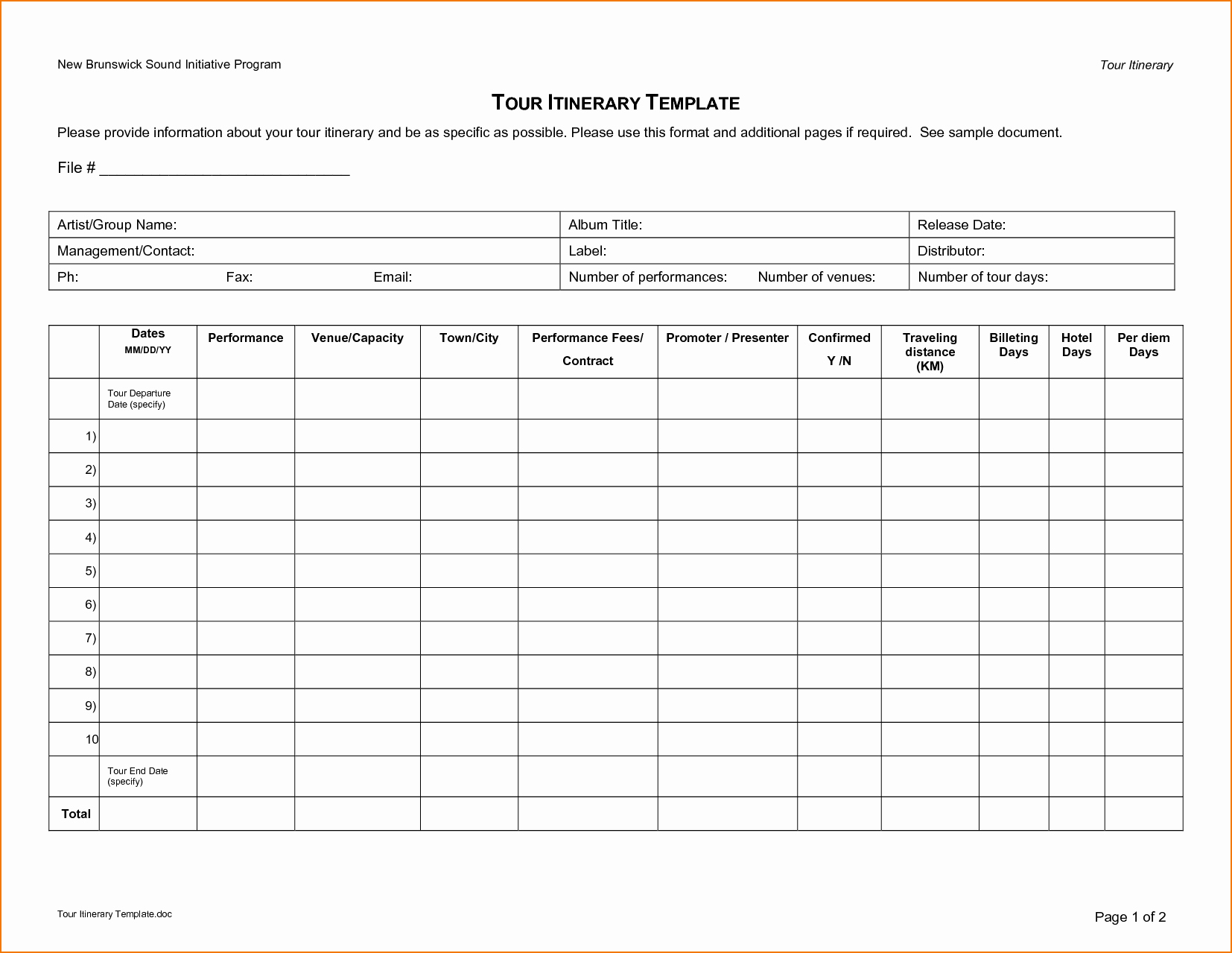 Travel Itinerary Template Word 2010 Unique 5 Travel Itinerary Template Excel