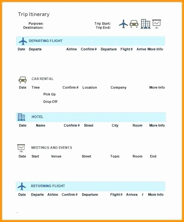 Travel Itinerary Template Word 2010 Unique Microsoft Travel Itinerary Template Business Templates
