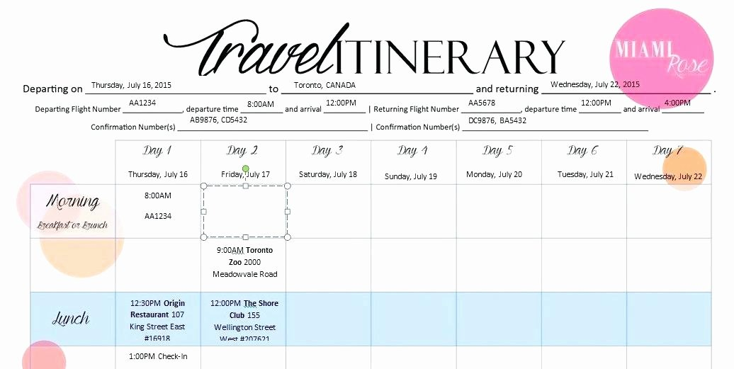 Travel Itinerary Template Word 2010 Unique Travel Itinerary Template Word Grand E 6 Templates Excel