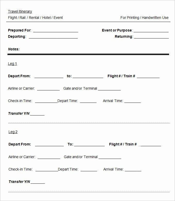 Travel Itinerary Template Word Beautiful 11 Cruise Itinerary Template Word Pdf