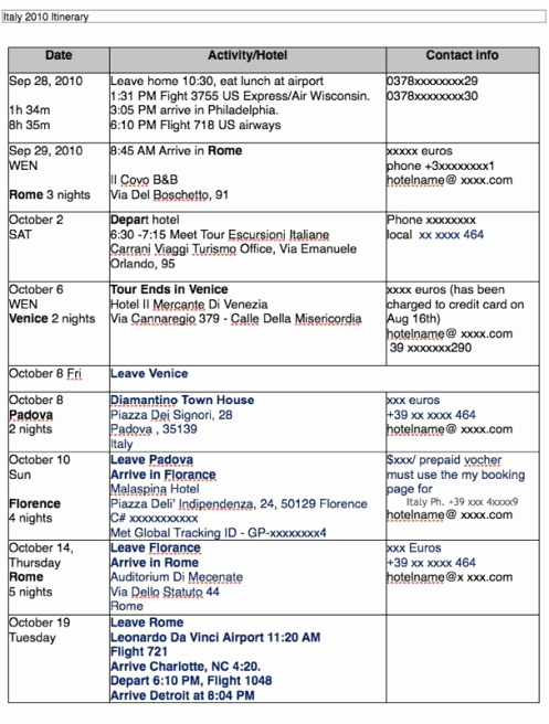 Travel Itinerary Template Word Best Of Travel Itinerary Templates Find Word Templates