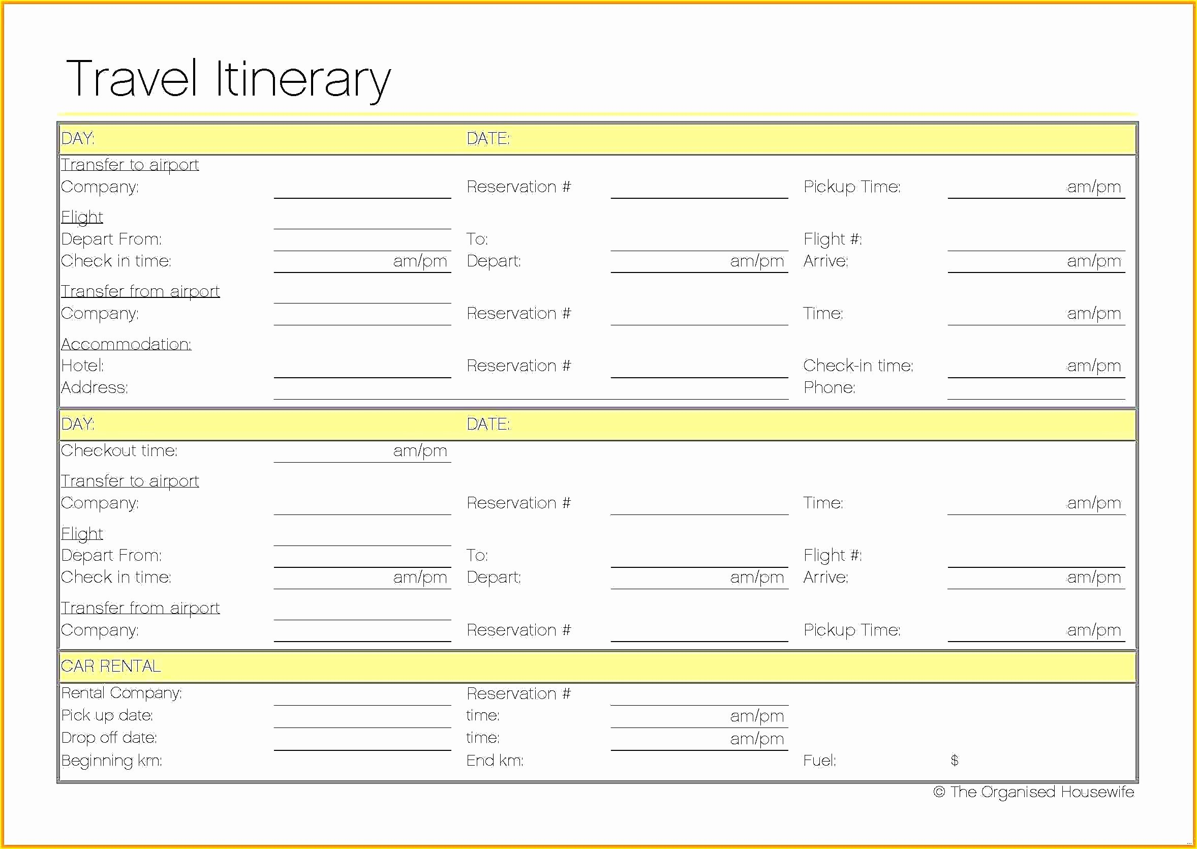 Travel Itinerary Template Word Elegant Travel Planner Template Download Bac7977b0c50 Proshredelite