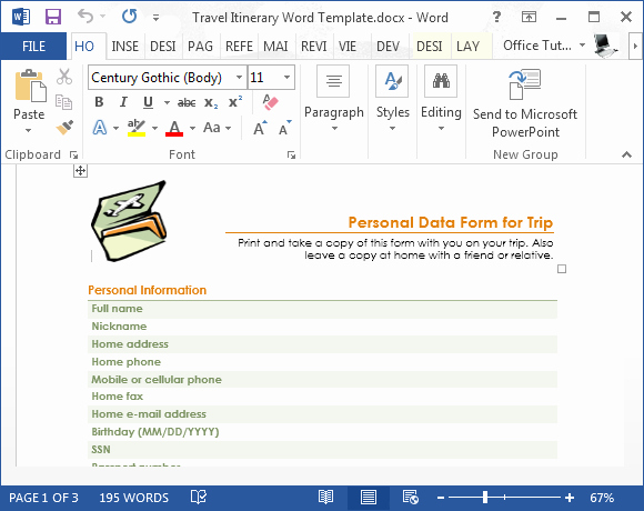 Travel Itinerary Template Word Lovely Travel Itinerary Word Template