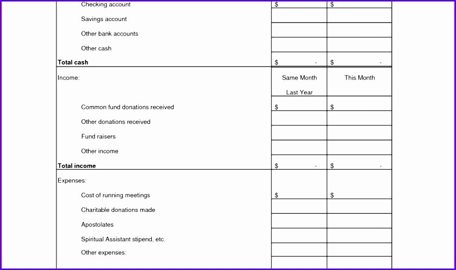 Treasurer Report Template Excel Awesome 8 Treasurer Report Template Excel Exceltemplates