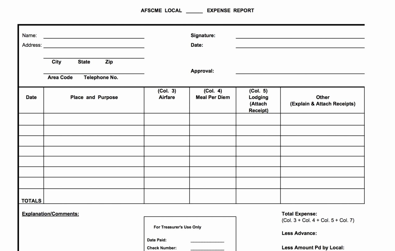 Treasurer Report Template Excel Awesome forms