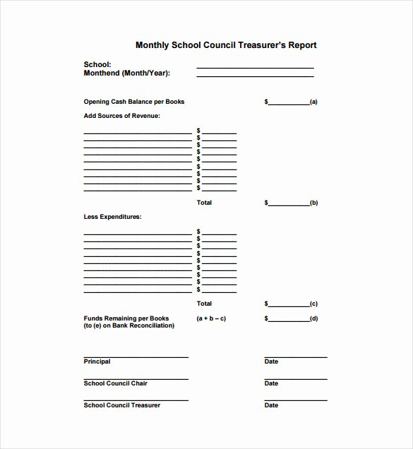 Treasurer Report Template Excel Elegant 15 Treasurer Report Templates Pdf Doc