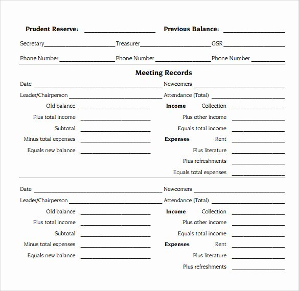 Treasurer Report Template Excel Fresh 13 Sample Treasurer Reports