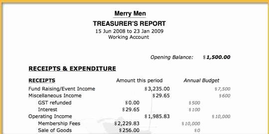 Treasurer Report Template Excel Lovely Admin Bandit Features Of Admin Bandit
