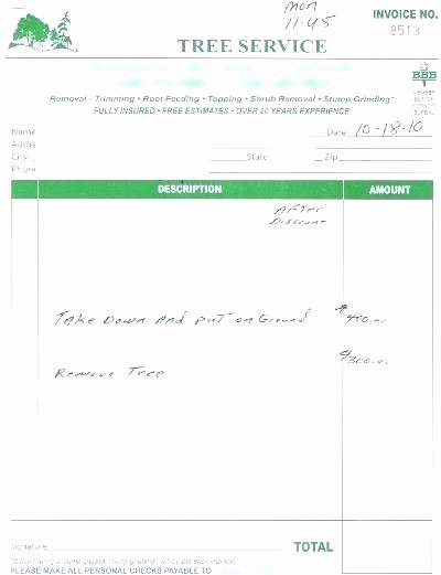 Tree Trimming Estimate Template Lovely Tree Trimming Proposal Template Free Printable Lawn