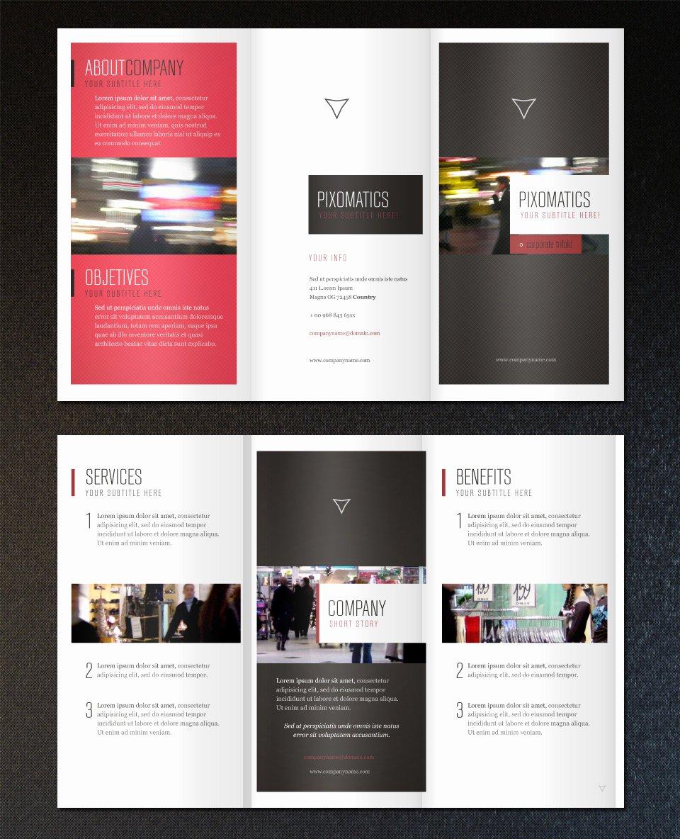 Tri Fold Brochure Free Template Awesome Free Minimalist Tri Fold Brochure Template