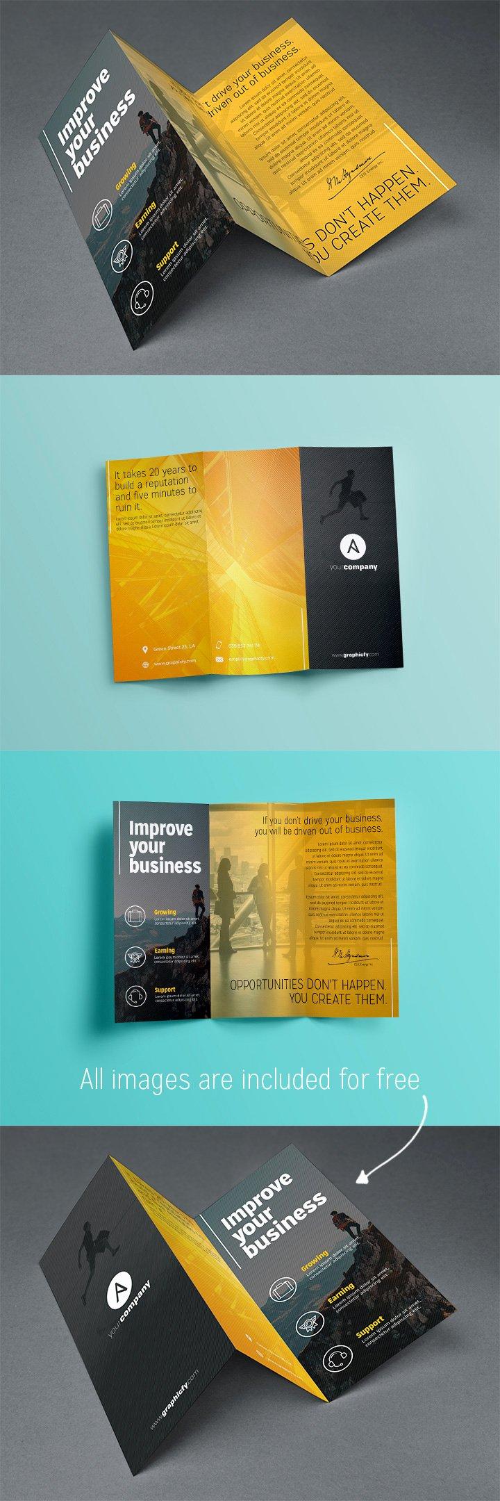 Tri Fold Brochure Free Template Beautiful Tri Fold Brochure Template Psd Brochure Templates