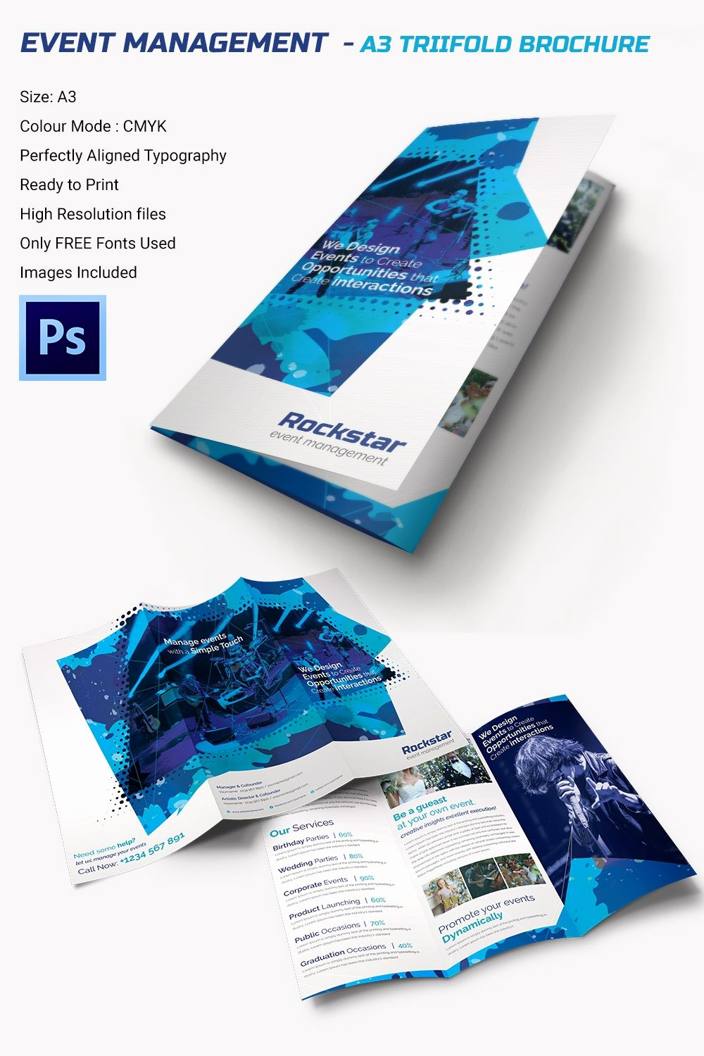Tri Fold Brochure Free Template Best Of 16 event Brochure Templates & Psd Designs