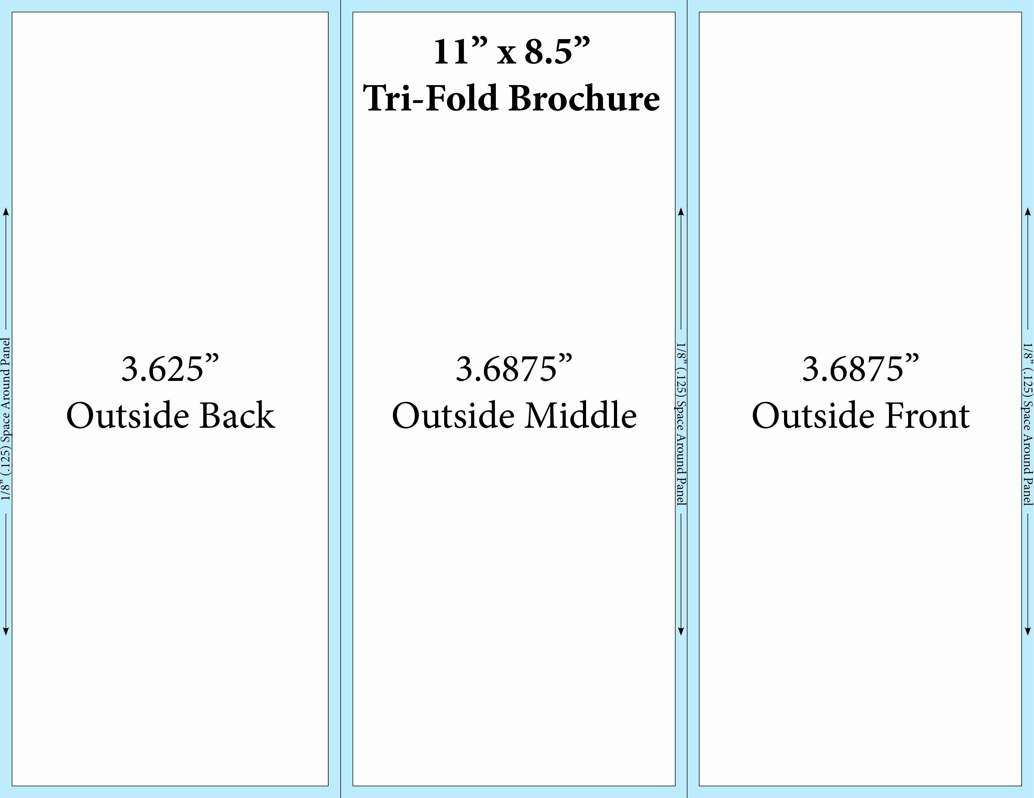 Tri Fold Brochure Free Template Best Of Free Printable Tri Fold Brochure Templates