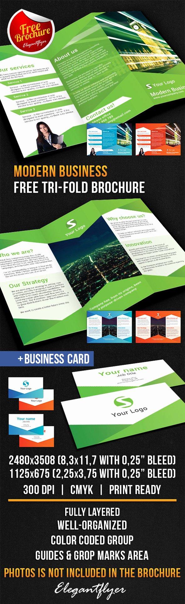 Tri Fold Brochure Free Template Elegant 25 Best Free Psd Brochure Templates