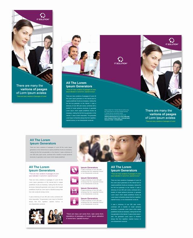 Tri Fold Brochure Free Template Fresh Microsoft Flyer Templates Free Download Yourweek