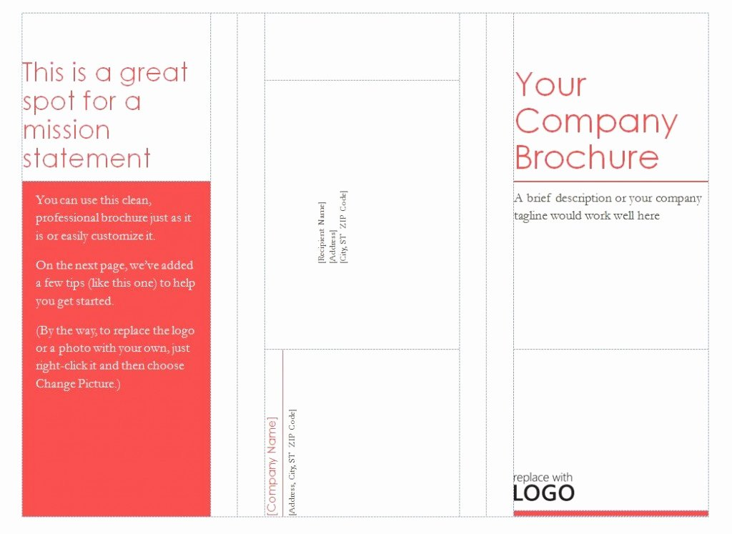 Tri Fold Brochure Free Template Fresh Patible with Avery Tri Fold Brochure Template