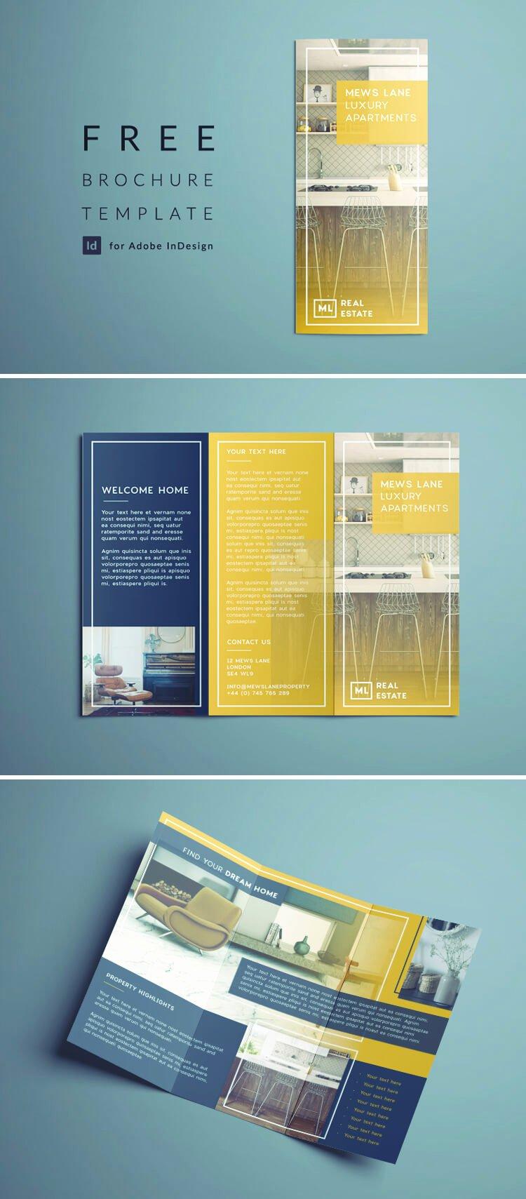 Tri Fold Brochure Free Template Fresh Tri Fold Brochure