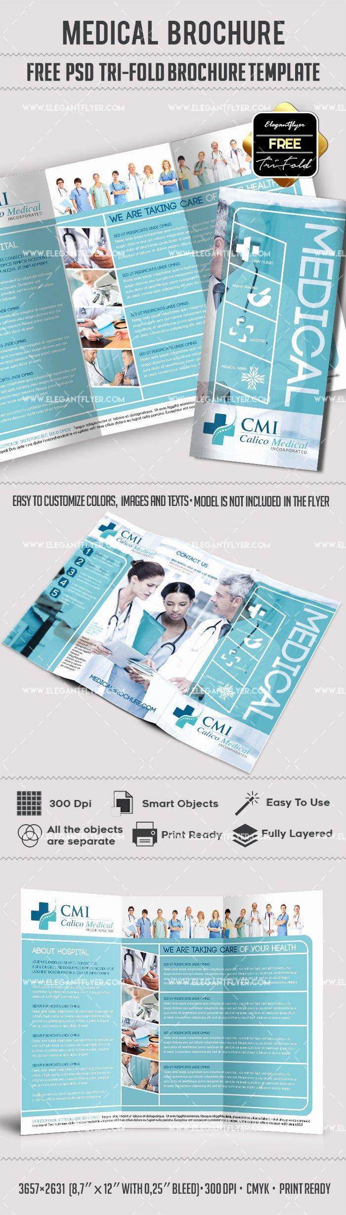 Tri Fold Brochure Free Template Inspirational Medical Tri Fold Brochure Template Free – by Elegantflyer