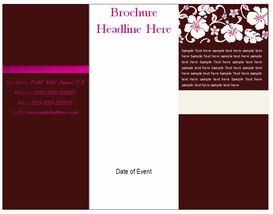 Tri Fold Brochure Free Template Lovely Free Printable Brochure Template