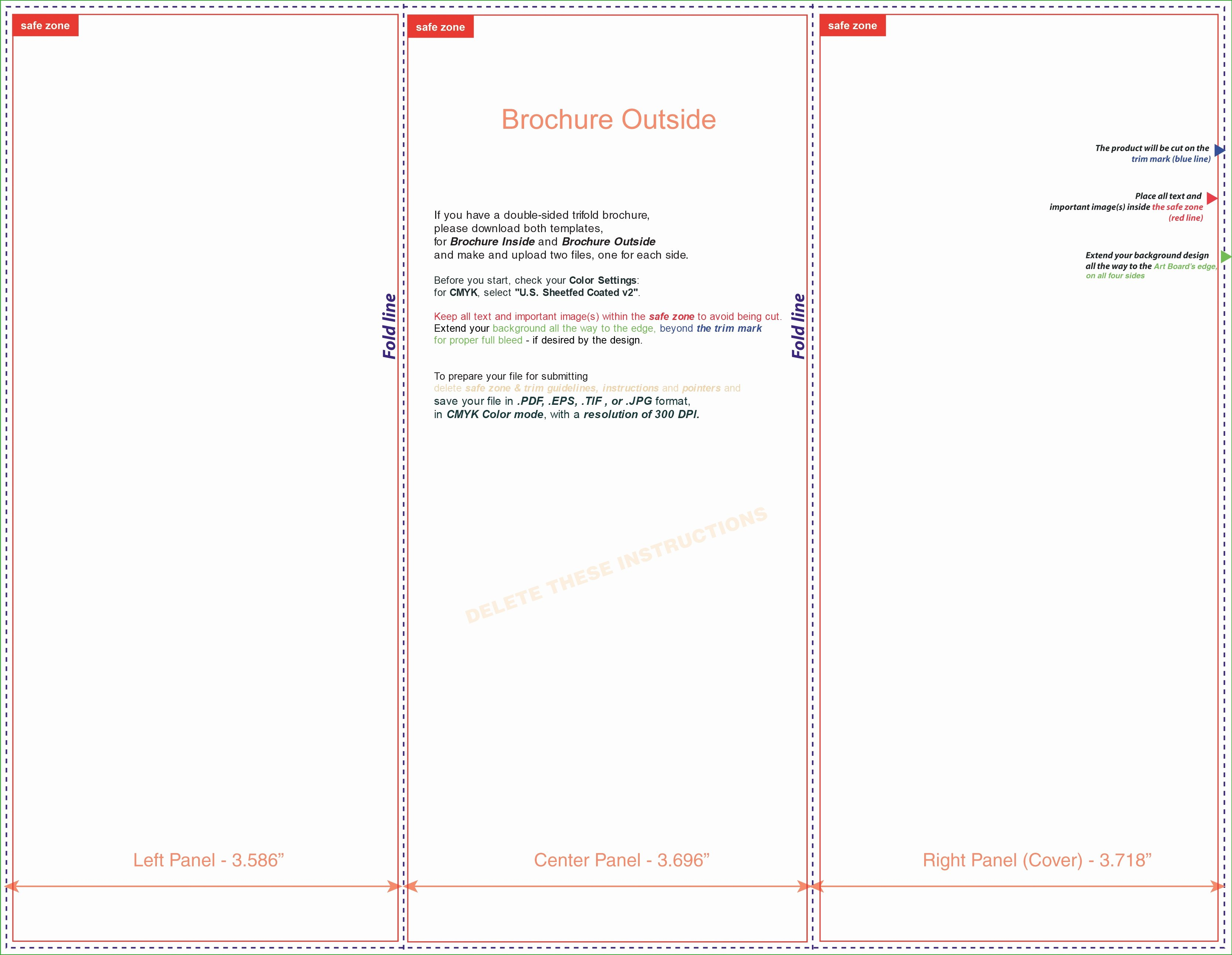 Tri Fold Brochure Free Template Lovely Tri Fold Brochure Template Microsoft Word