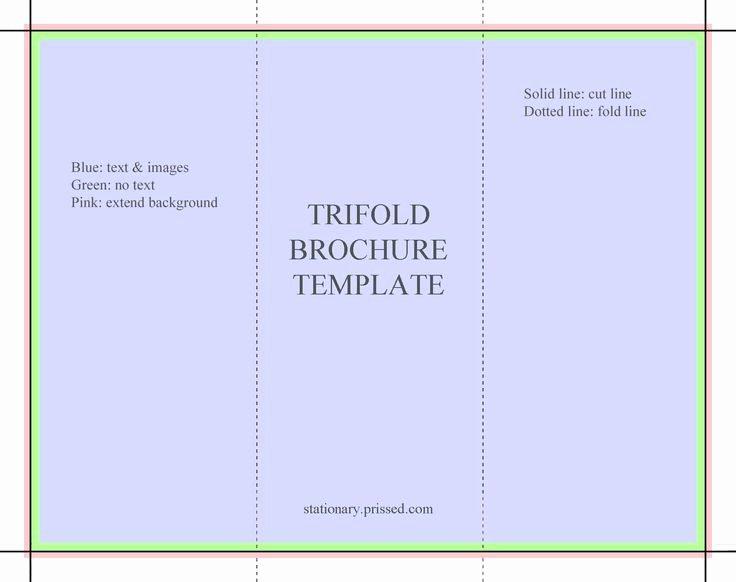Tri Fold Brochure Free Template New Blank Tri Fold Brochure Template Free Download