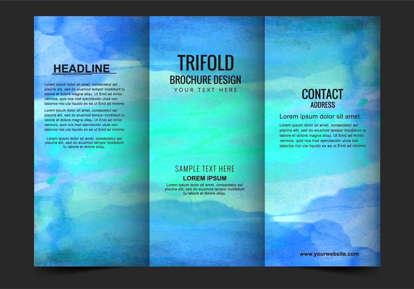 Tri Fold Brochure Free Template Unique Vector Modern Trifold Brochure Template Download Free