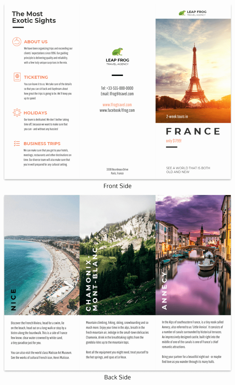 Tri Fold Travel Brochure Template Awesome Destination Tri Fold Travel Brochure Template Venngage