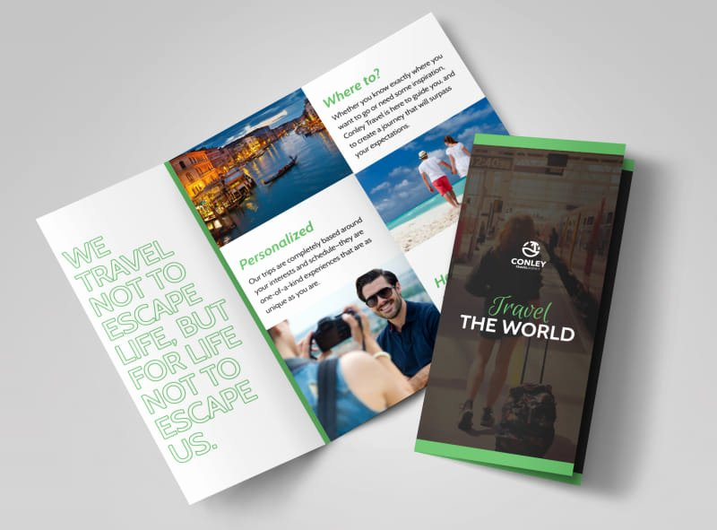 Tri Fold Travel Brochure Template Awesome Travel Brochure Template