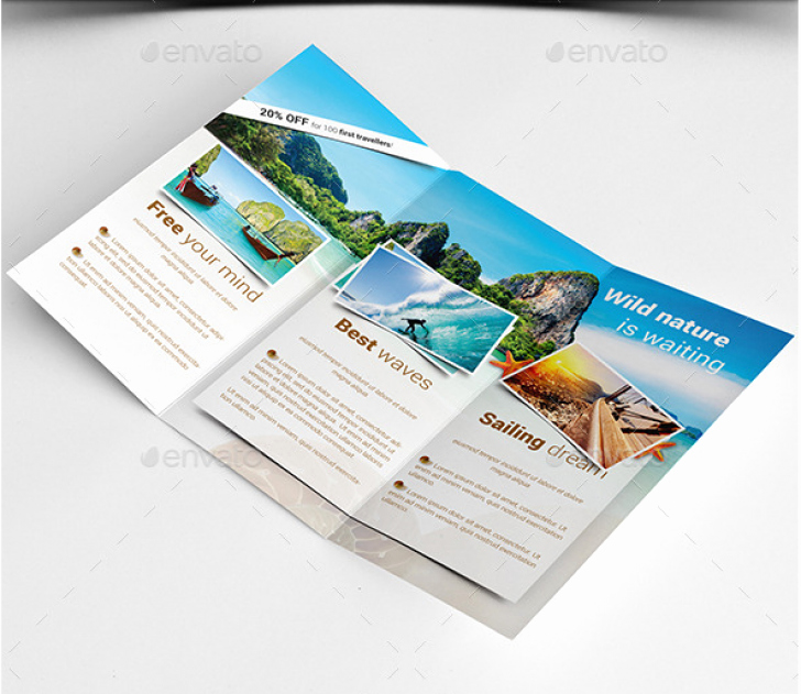 Tri Fold Travel Brochure Template Awesome Travel Guide Brochure Template toddbreda