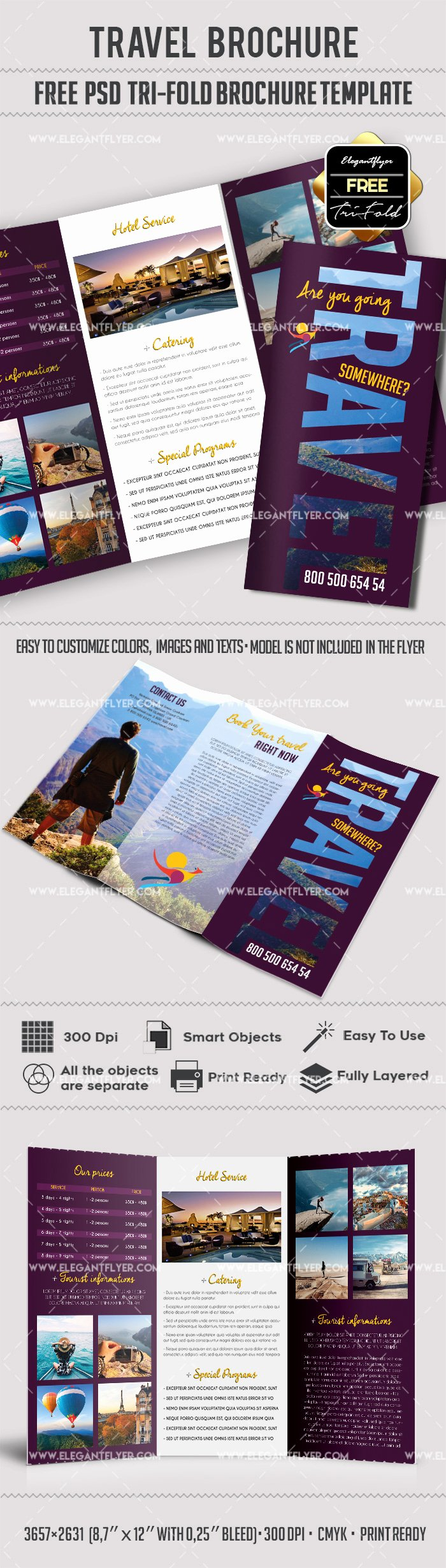 Tri Fold Travel Brochure Template Awesome Tri Fold Travel Brochure Template – by Elegantflyer
