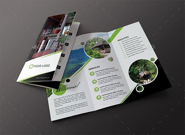 Tri Fold Travel Brochure Template Beautiful 40 Print Ready Brochure Templates