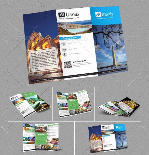 Tri Fold Travel Brochure Template Beautiful 50 Travel Brochure Templates Psd Ai Google Pages