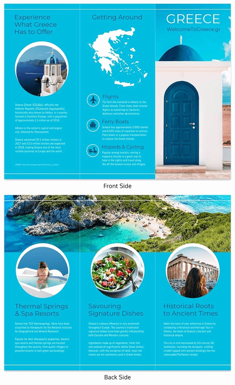 Tri Fold Travel Brochure Template Best Of 20 Professional Trifold Brochure Templates Tips
