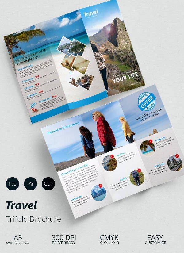 Tri Fold Travel Brochure Template Best Of 47 Travel Brochure Templates Free Sample Example