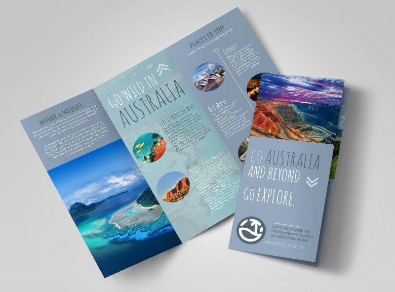 Tri Fold Travel Brochure Template Best Of Travel Australia Tri Fold Brochure Template