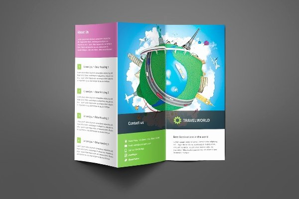 Tri Fold Travel Brochure Template Best Of Travel Brochures – 18 Psd Ai Vector Eps format Download