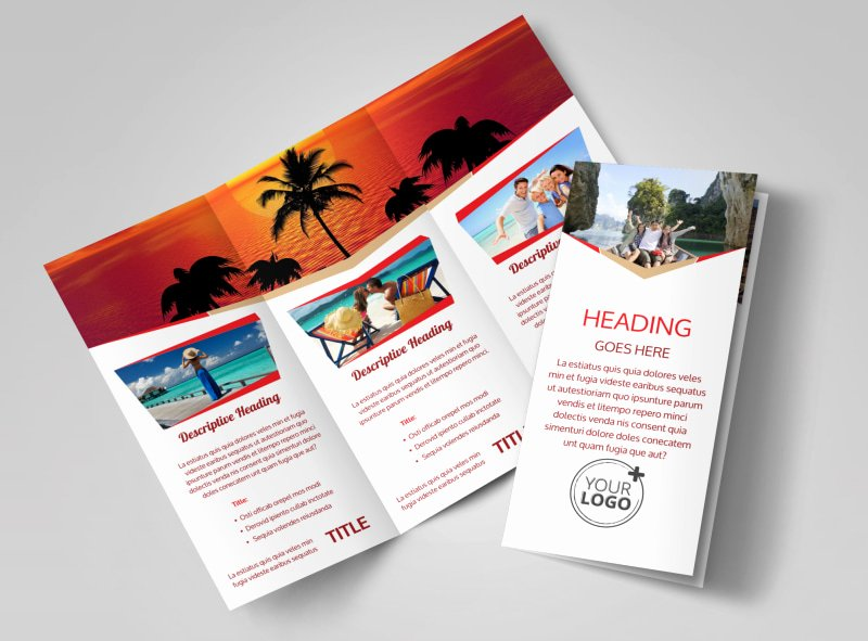 Tri Fold Travel Brochure Template Elegant Leading Travel Agents Brochure Template