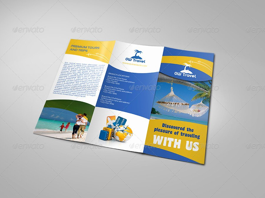 Tri Fold Travel Brochure Template Elegant Travel Pany Tri Fold Brochure Template by Ow